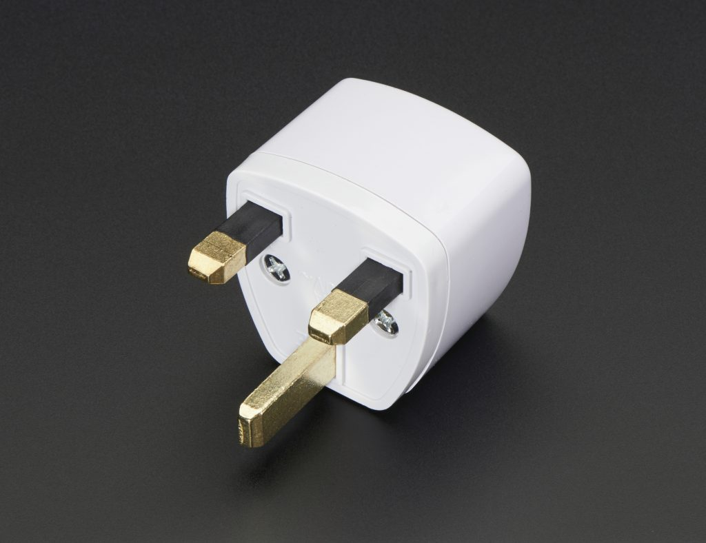 the UK plug adapter